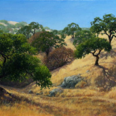 Back County Trail, Oil on canvas 24 x 36 inches