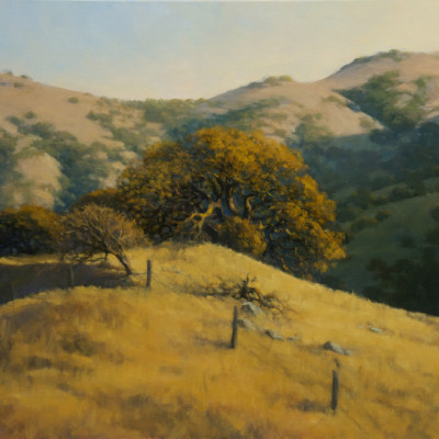 October Oaks, Oil on canvas, 24 x 30 inches