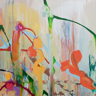 Simile by Daniel Phill, Acrylic On Canvas 24 x 48 inches