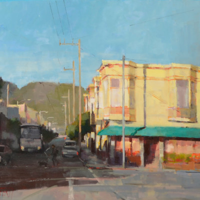Church Street, Oil on canvas, 20 x 24 inches
