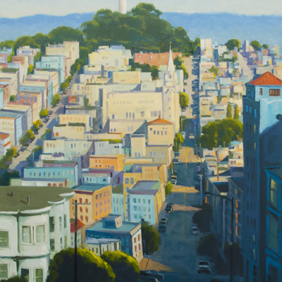 Coit, Oil on canvas, 40 x 30 inches