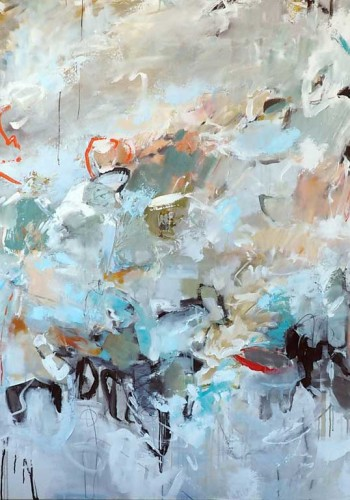Celestial Navigation, Acrylic on canvas, 60 x 72 inches