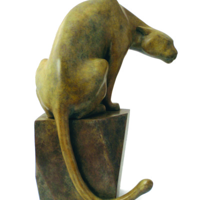 Cougar by Kristine Taylor, Bronze Sculpture 11 x 8 inches