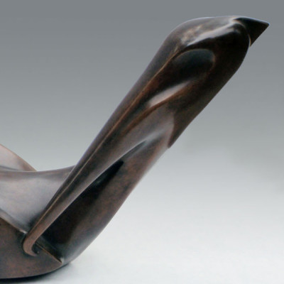 Deco Pelican, Bronze, 7 1/2 x 15 inches