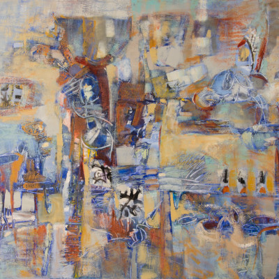 Ensembles, Mixed media on canvas, 48 x 60 inches