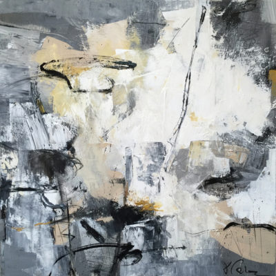 Edge of Sand, Mixed media on canvas, 36 x 36 inches