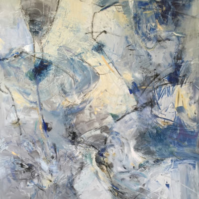 Volumes, Mixed media on canvas, 60 x 48 inches