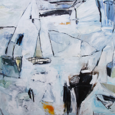 As The Wind Blows by Katy Kuhn, Acrylic On Canvas 60 x 72 inches