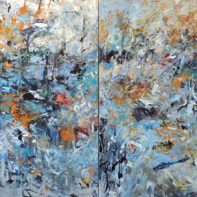 While Chasing Childish Dreams, Oil on canvas, 72 x 96 inches