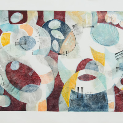 Interplay 4 by Kay Marshall,  Painting On Paper 22 x 30 inches