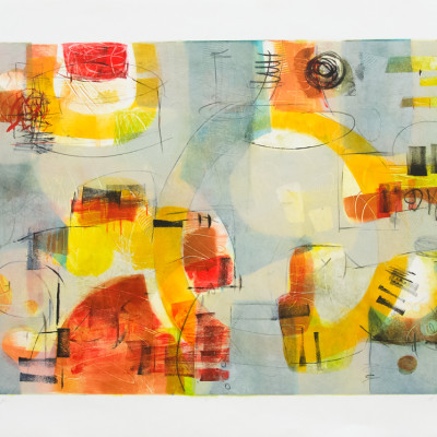 Loose Exchange by Kay Marshall, Painting On Paper 22 x 30 inches