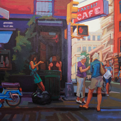 Fanelli Cafe, Oil on canvas, 36 x 58 inches