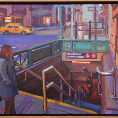 Wall Street, Oil on canvas, 24 x 30 inches