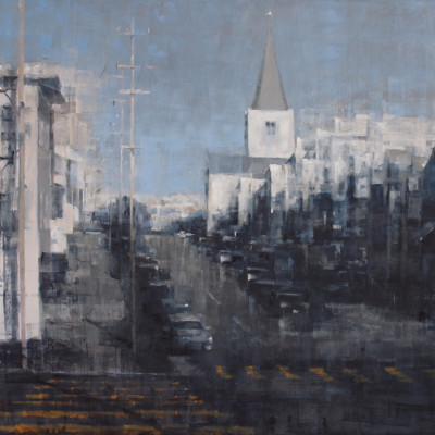 Out in the Avenues, Oil on canvas, 48 x 60 inches