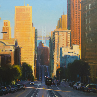 California Street, Oil on canvas, 40 x 30 inches