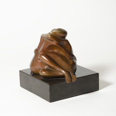 Lovers Embracing by James Menzel-Joseph, Bronze Sculpture 6 inches tall