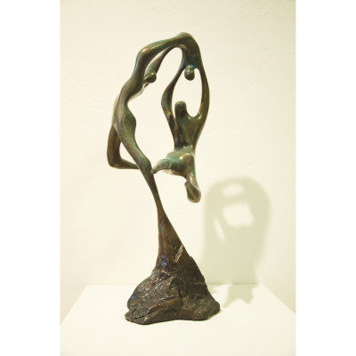 Celebration Small by James Menzel-Joseph, Bronze Sculpture 15 inches tall