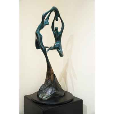 Celebration by Menzel Joseph, Bronze Sculpture 32 x 13 inches