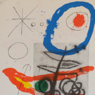 Joan Miro, Lithograph, 15 x 11 inches