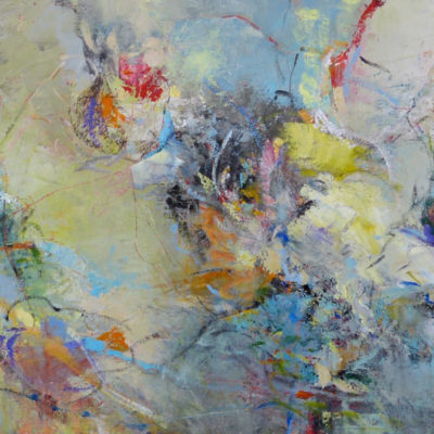 Fairy Tales, Mixed media on canvas, 36 x 72 inches