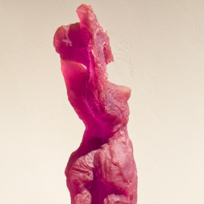 Standing Nude, Purple, Cast resin, 71 x 12 inches