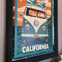 Micah Paul, California Volkswagen mirror frame